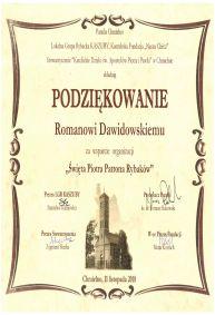 Podziękowanie - parafia Chmielno